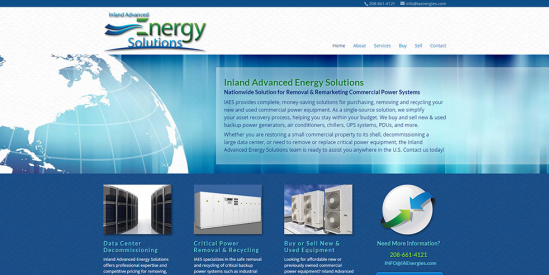 Inland Advanced Energy Solutions Website