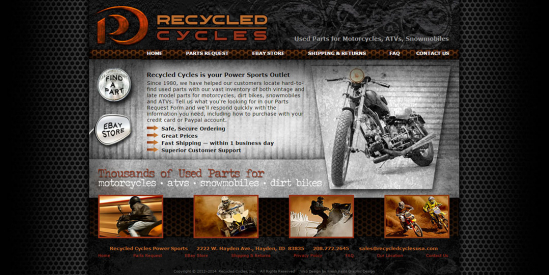 Recycled Cycles Website